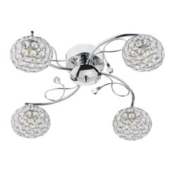 EDE0450 Eden 4 Light Semi Flush Fitting in Chrome