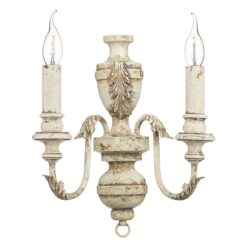 EMI0955 Emile Double Wall Light in Rustic French Fitting Only