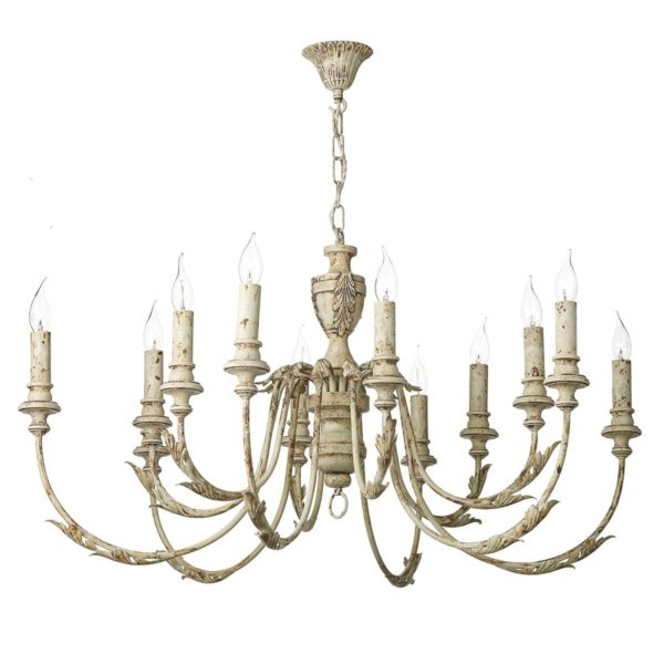 David Hunt Lighting EMI1255 Emile 12 Light Pendant in Rustic French Fitting Only