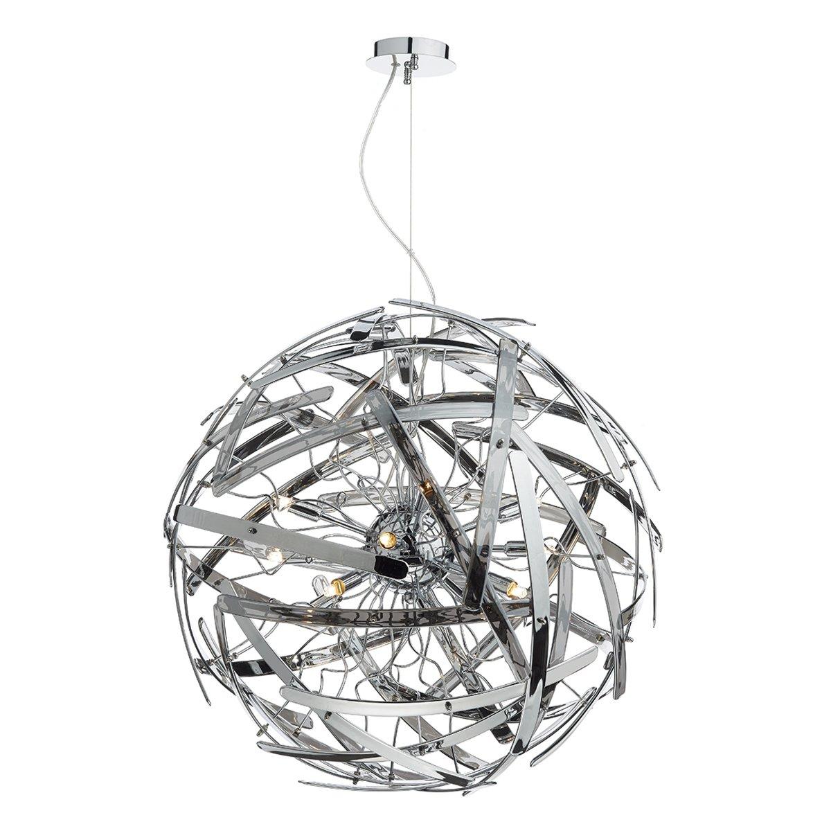 Dar MEL1210 Melba 12 Light Ball Pendant with smoked Glass