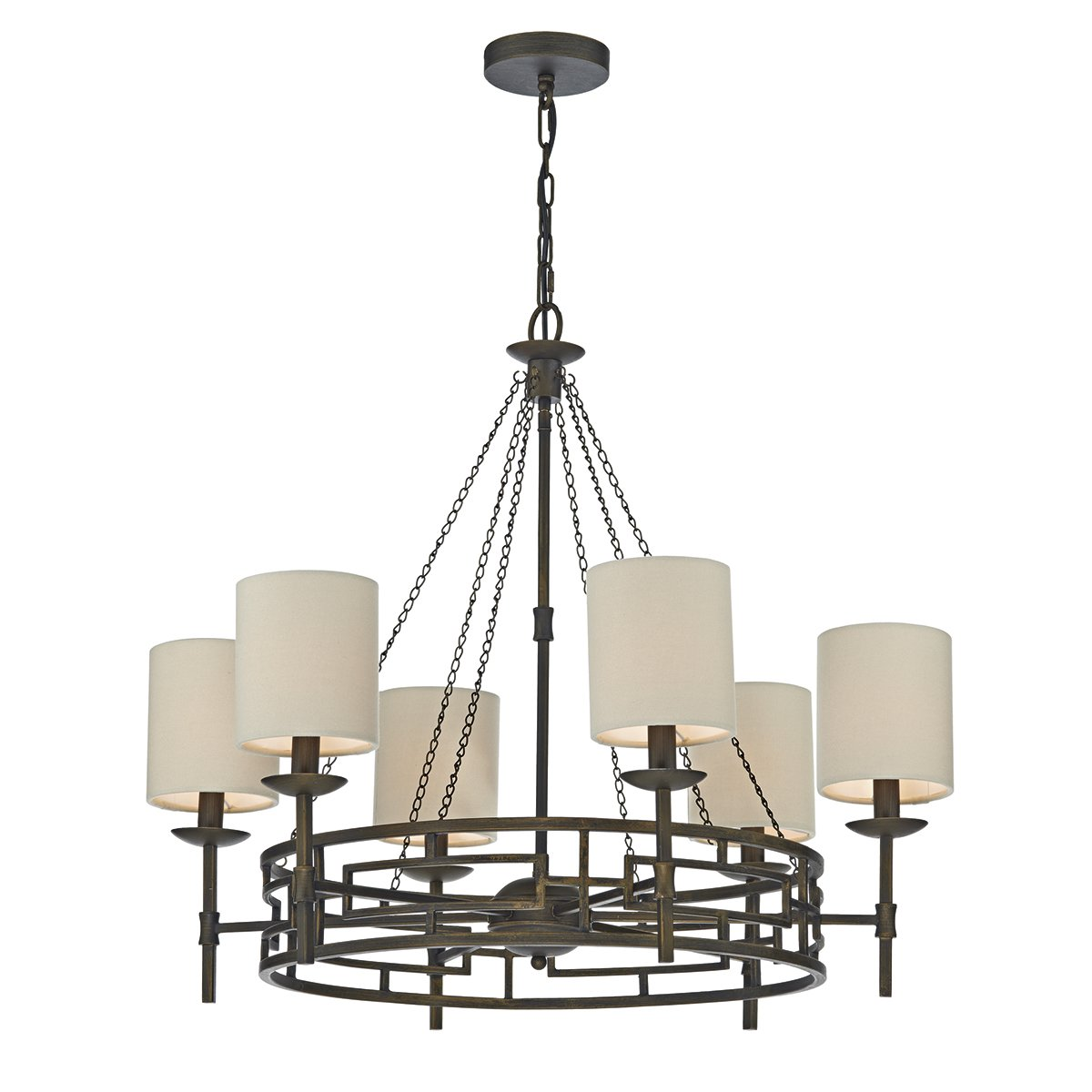 Dar EMM1350 Emma 9 Light Chandelier in Chrome & Crystal