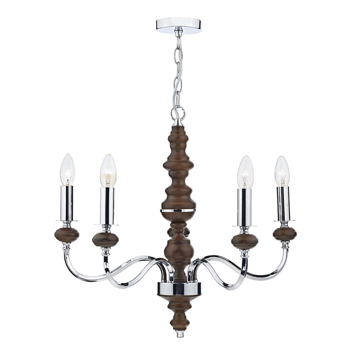 Franklite FL2188/8 Chiffon 8 light chandelier, chrome and crystal