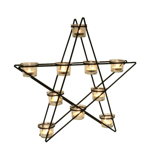 14910 Star Tealight Holder Clear