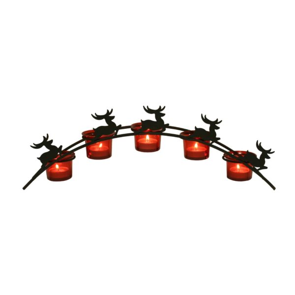 Straits 14913 Arch Reindeer Tealight Holder Red