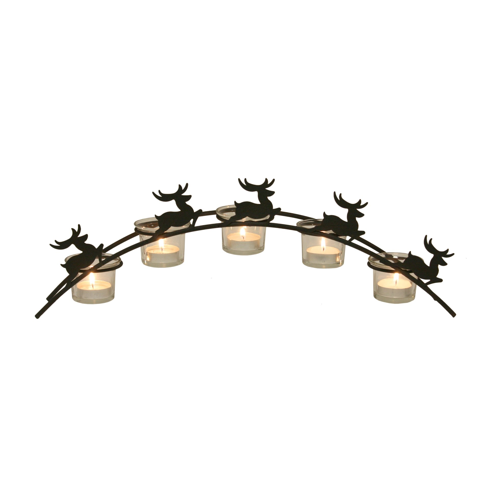 Straits 14914 Arch Reindeer Tealight Holder Clear