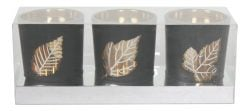 14929-G Leaf Tealight Holder Gold