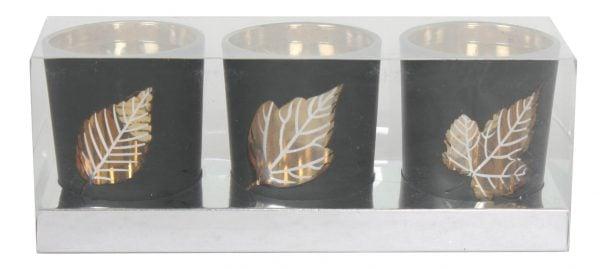 14929-G Leaf Tealight Holder Gold