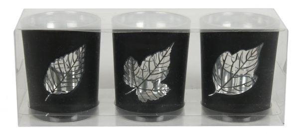 14929-S Leaf Tealight Holder Silver