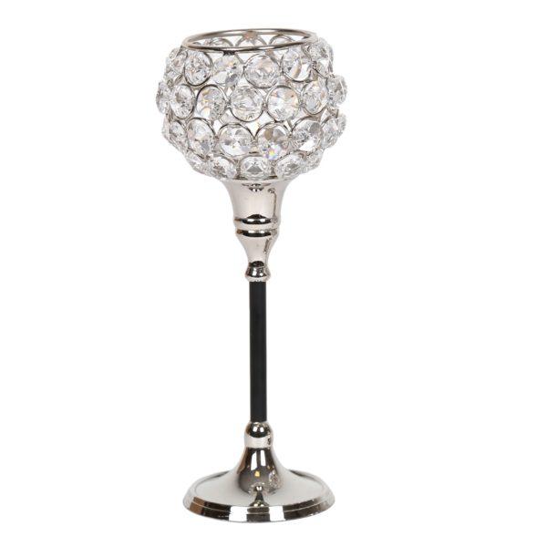 Straits 15084 Nickel Crystal Tealight Holder