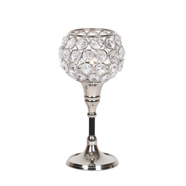 Straits 15085 Nickel Crystal Tealight Holder