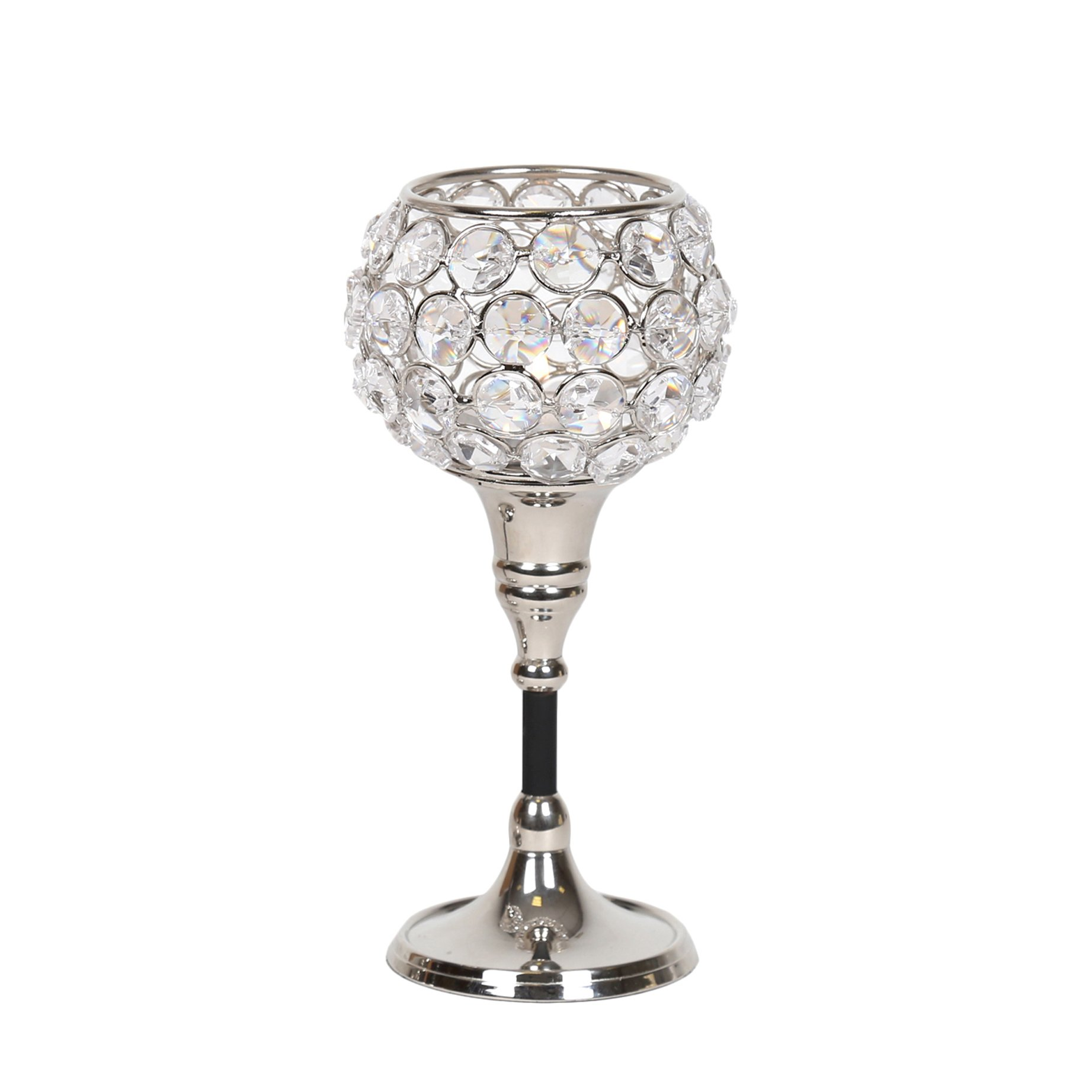 Straits 15085 Nickel Crystal Tealight Holder