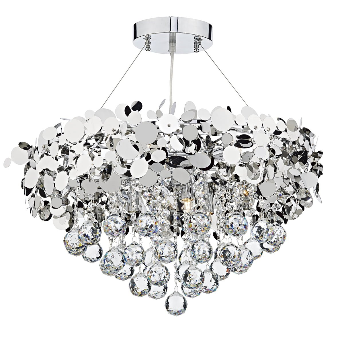 Dar LUX1350 Luxor 9 Light Pendant in Polished Chrome
