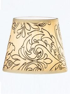 1083 Candle-clip lampshade patterned cream silk