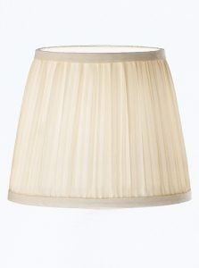 1085 Candle-clip lampshade pleated cream silk
