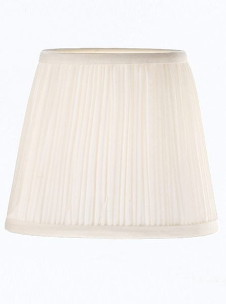 1129 Candle-clip lampshade pleated white silk