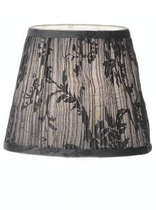 1160 candle-clip lampshade black patterned