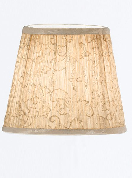1161 candle-clip lampshade cream patterned