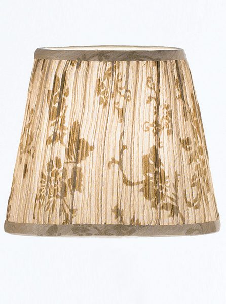 1162 candle-clip lampshade beige patterned