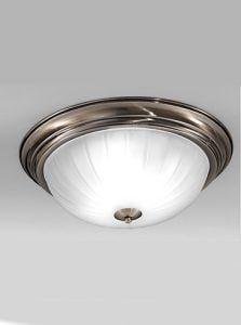 CF5644 Flush ceiling light large, bronze and ribbed acid glass