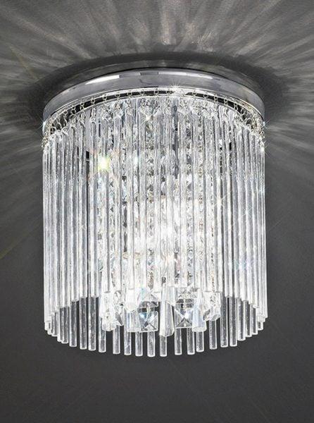 CF5723 Charisma single tier flush, chrome and crystal glass