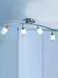 DP40024 Campani 4 lights on a bar in Silver with clear/acid glasses.