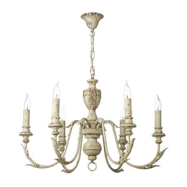 David Hunt Lighting EMI0655 Emile 6 Light Pendant in Rustic French Fitting Only