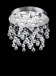 FL2019/7 Constellation chandelier, chrome & crystal