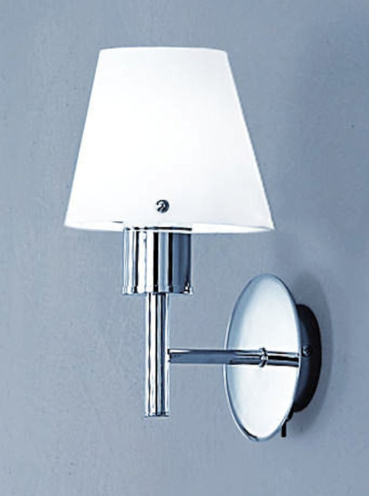 Single Chrome Wall Lights : FL2059/1 Turin single wall light, chrome & opal glasses Lighting Bug Swindon