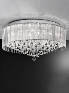 FL2160/8 Spirit large flush, chrome and crystal glass