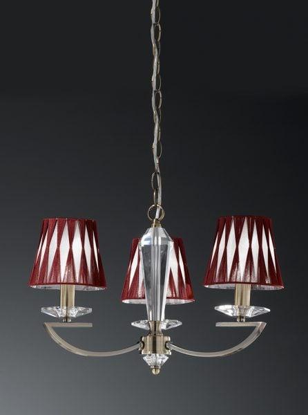 FL2242/3 Artemis bronze 3 light pendant fitting only