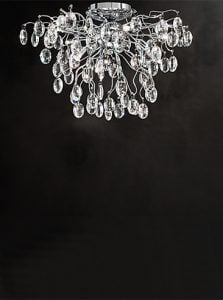 FL2326/8 Wisteria 8 light flush, chrome and crystal