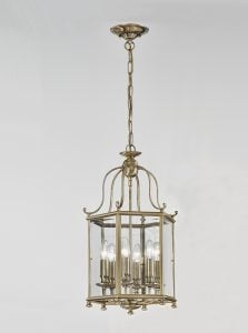 LA7007/6 Montpelier 6 light hexagonal lantern, bronze with bevelled glass