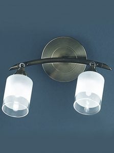 SPOT8772 Campani bronze double wall light, bronze with clear/acid glasses