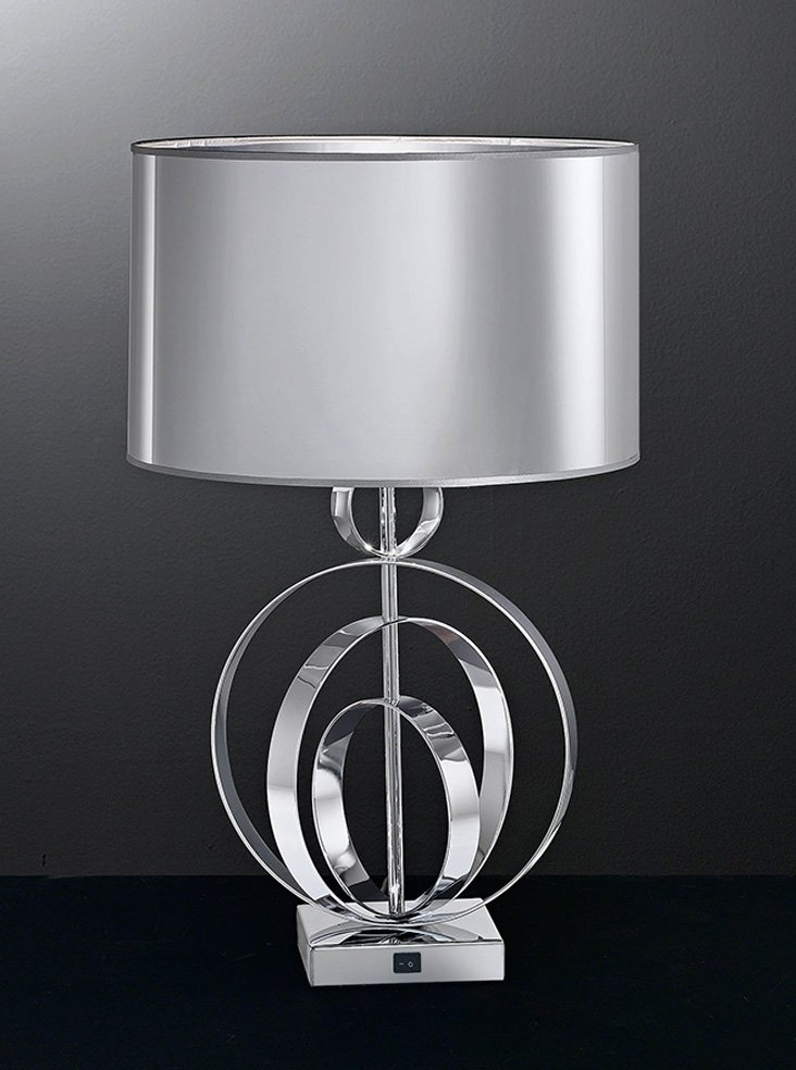 Tl969 Zany Table Lamp Chrome Amp Matallic Silver Shade