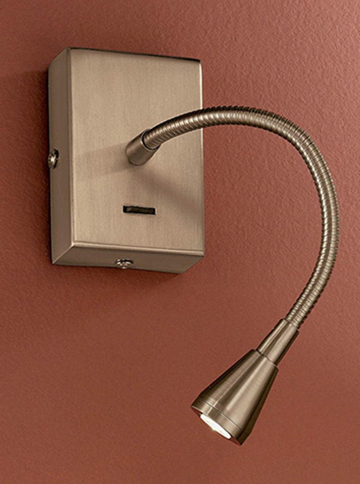 WB042 LED flexible arm reading wall light, bronze Lighting Bug Swindon