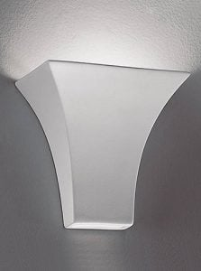 WB911 Ceramic uplighter paintable, White