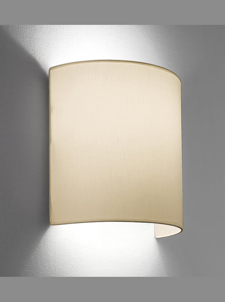 Half Circle Wall Lights : WB970/1127 Half circle wall light, cream Lighting Bug Swindon