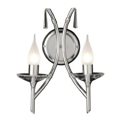 BR2 Brightwell Double Wall Light in Polished Nickel