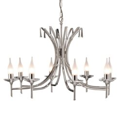 BR8 Brightwell 8 Light Chandelier in Polished Nickel