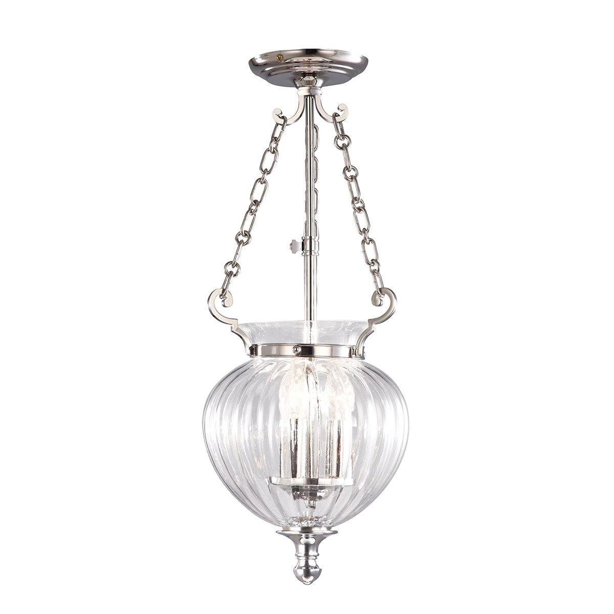 Elstead FP-PS-PN Finsbury Park 3lt Small Lantern in Polished Nickel