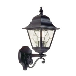 NR1 Norfolk Up Wall Leaded Lantern in Black