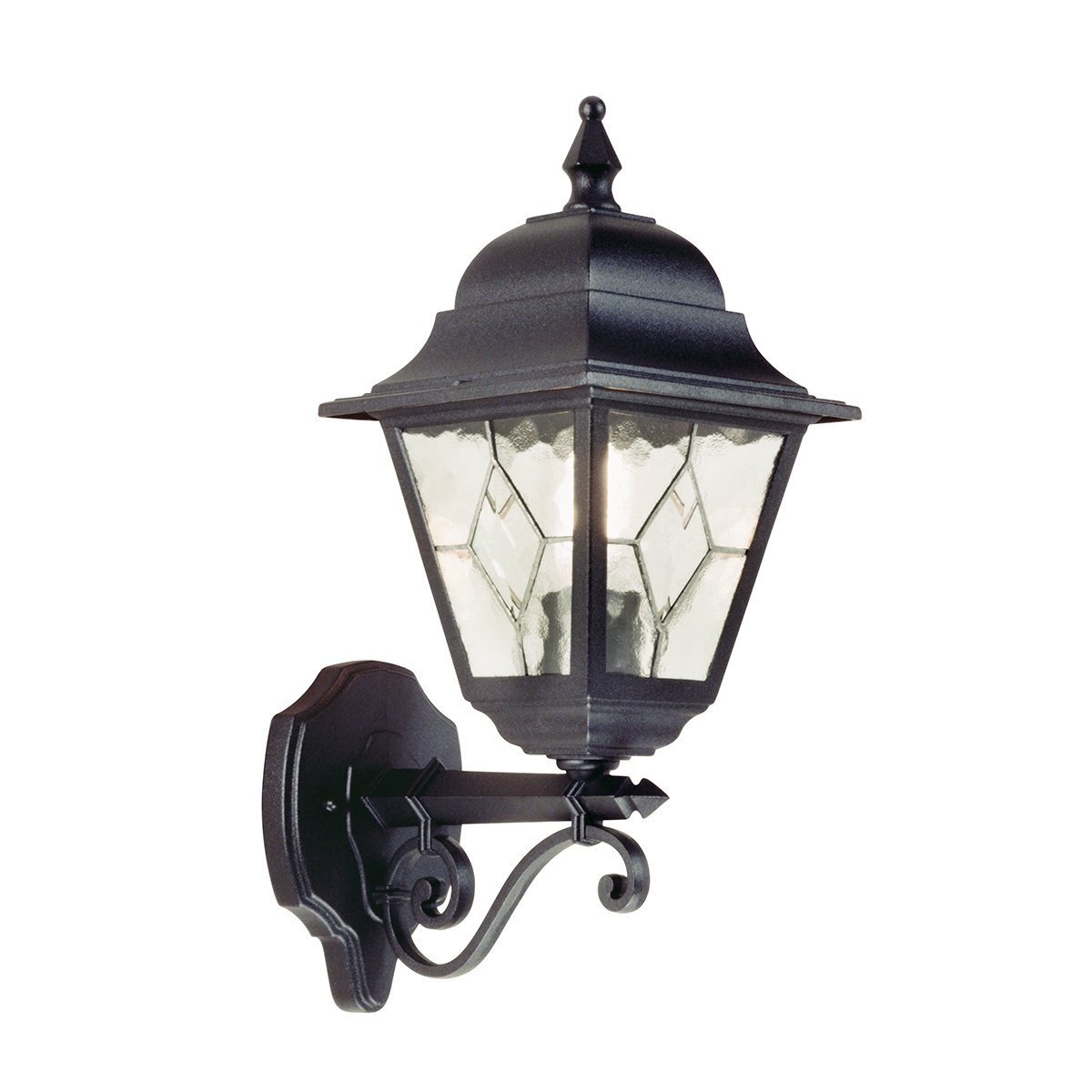 Elstead NR2 Norfolk Down Wall Leaded Lantern in Black