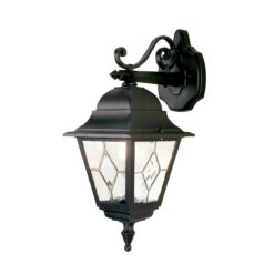 NR2 Norfolk Down Wall Leaded Lantern in Black