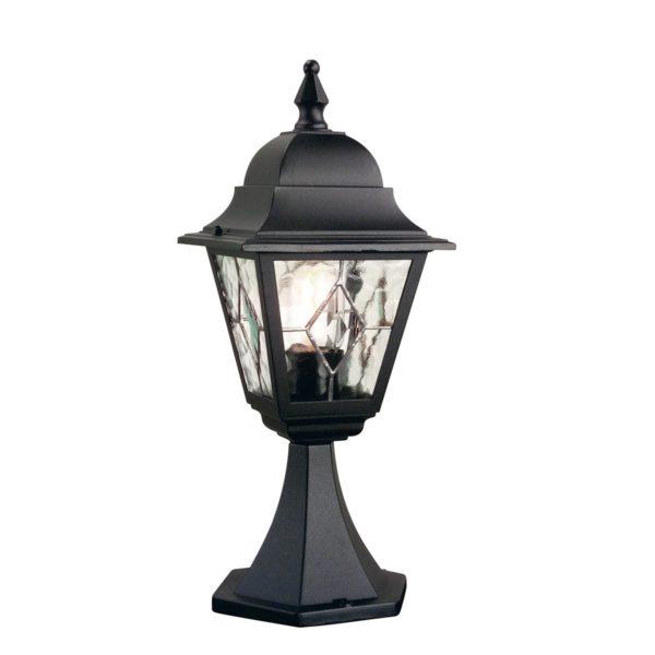 Elstead NR3 Norfolk Pedestal Leaded Lantern in Black
