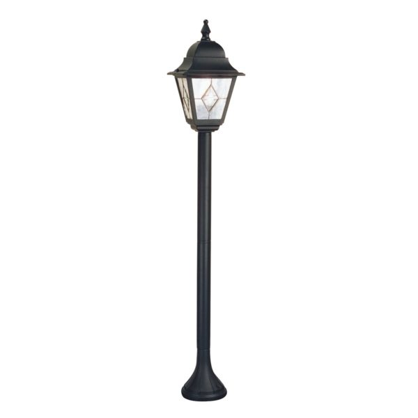 Elstead NR4 Norfolk Pillar Leaded Lantern in Black