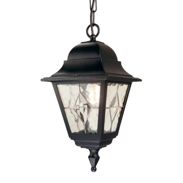 Elstead NR9 Norfolk Chain Leaded Lantern in Black