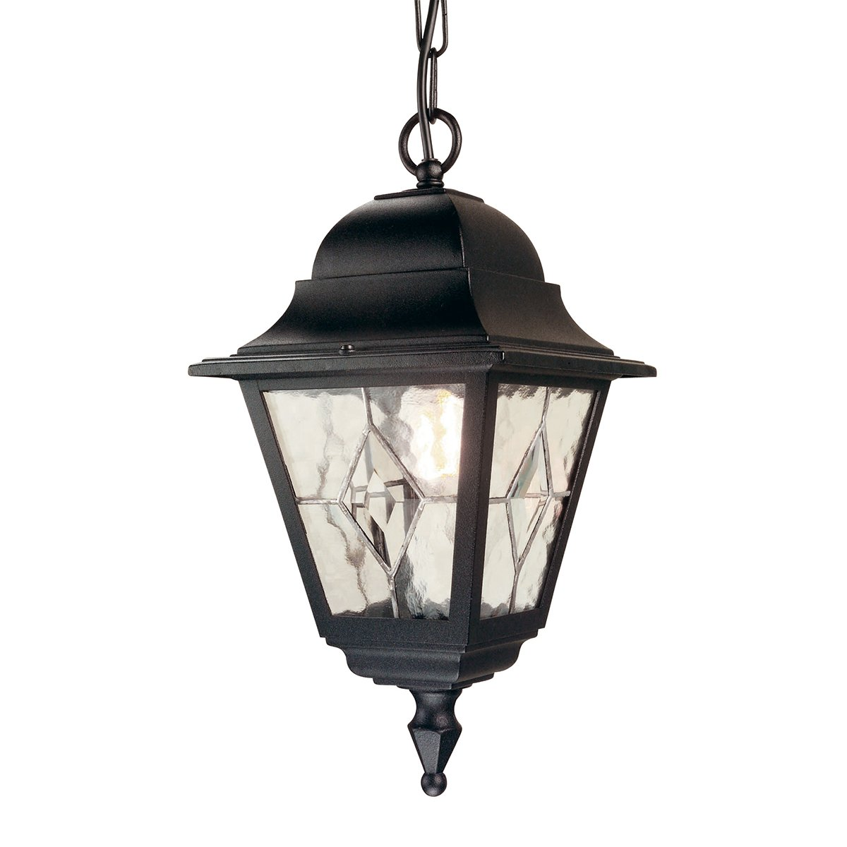 Elstead NR9 Norfolk Chain Leaded Lantern in Black