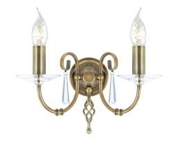 AG2-AB Aegean Double Wall Light in Antique Brass