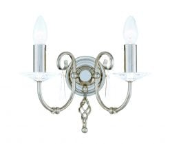 AG2-PN Aegean Double Wall Light in Polished Nickel