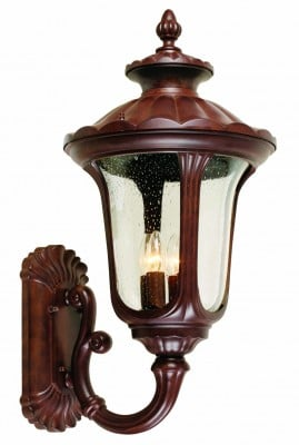 Elstead CC1-L Chicago 4 Light Large Up Wall Lantern in Rusty Bronze Patina